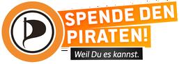 Spenden-Banner der Piratenpartei
