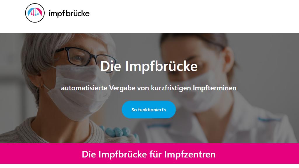 Screenshot impfbruecke.de