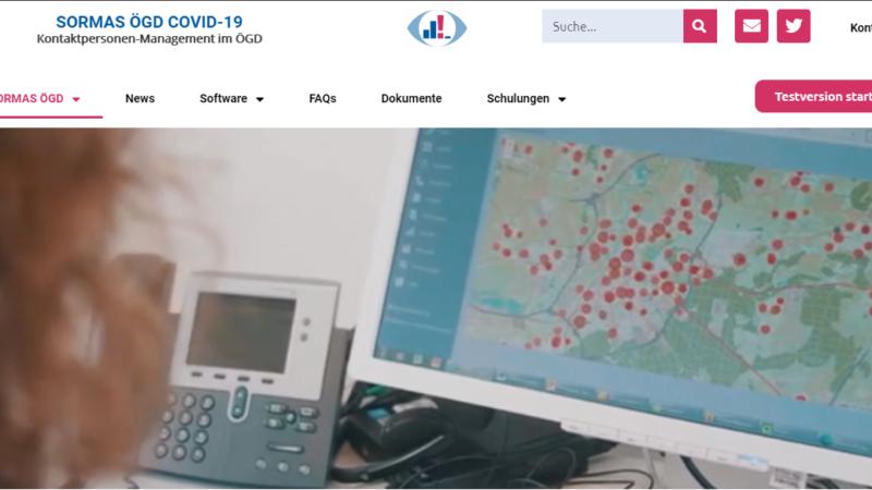 Screenshot sormas-oegd.de