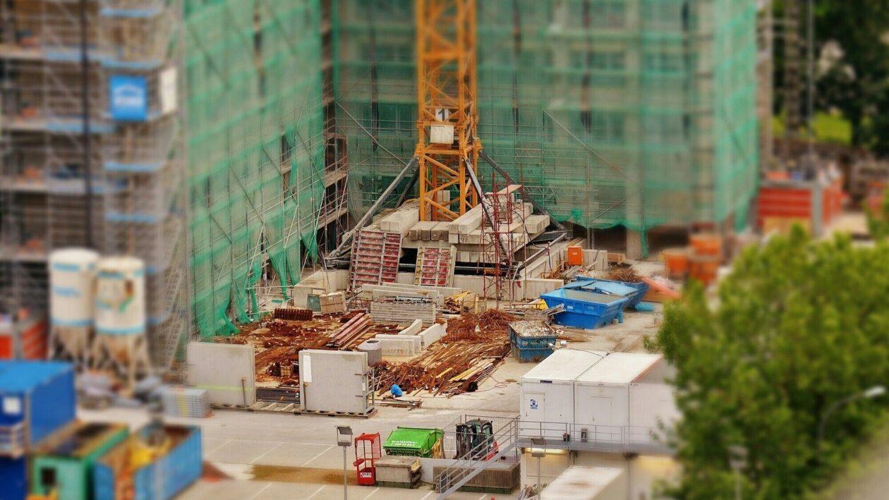 Baustelle eines Hochhauses