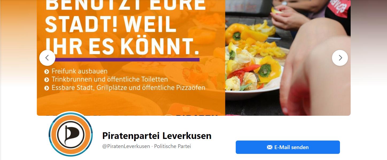 Facebook-Header der Piratenpartei Leverkusen