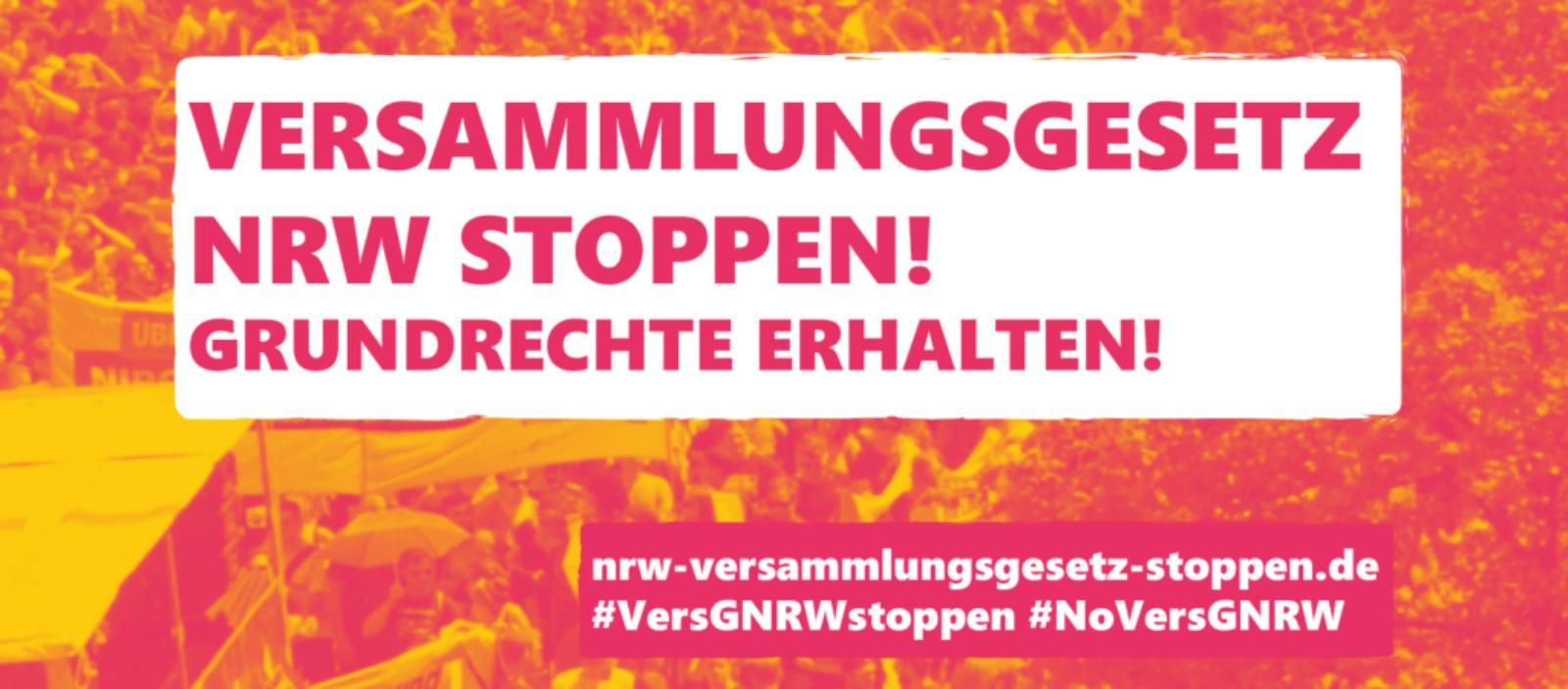Versammlungsgesetz NRW stoppen!