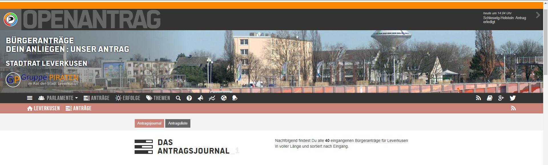 Banner von OpenAntrag Leverkusen