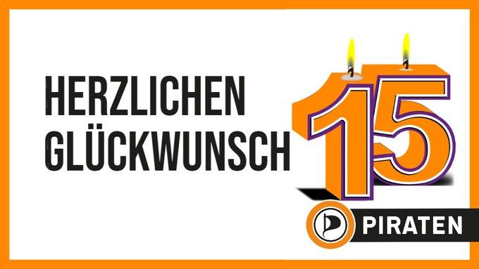 Herzlichen Glückwunsch! 15 Jahre Piratenpartei Deutschland