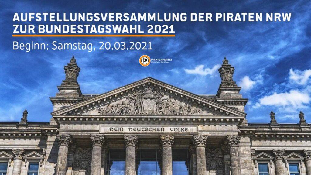 Aufstellungsversammlung 21.1 der Piratenpartei NRW