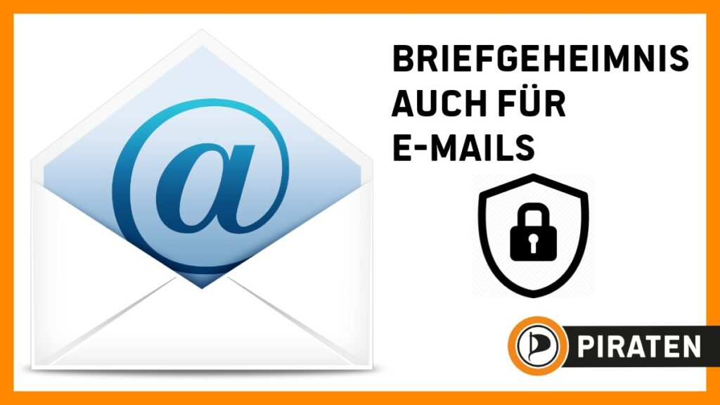 Briefgeheimnis auch für E-Mails