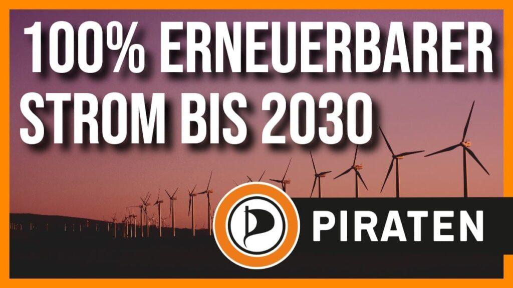 100% erneuerbarer Strom bis 2030