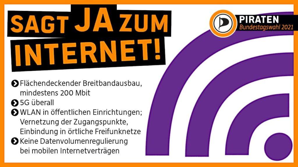 Sag JA zum Internet!